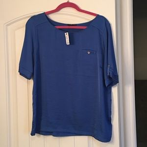 Royal Blue Blouse from the Limited